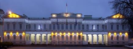Paleis van de voorzitter en Nieuwjaren lichten Stock Foto's