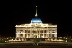 Paleis van de voorzitter van Kazachstan in Astana stock afbeeldingen