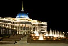Paleis van de voorzitter van Kazachstan in Astana stock foto