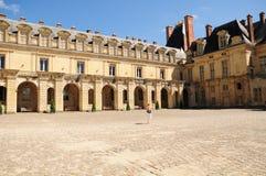 Paleis van Fontainbleau Stock Afbeeldingen