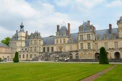 Paleis van Fontainebleau in Frankrijk royalty-vrije stock foto