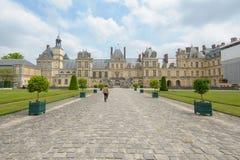 Paleis van Fontainebleau in Frankrijk Royalty-vrije Stock Foto's