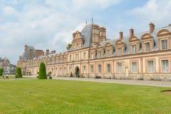 Paleis van Fontainebleau in Frankrijk royalty-vrije stock afbeelding