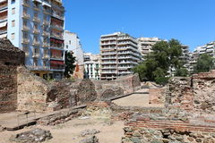 Paleis van Galerius, Thessaloniki, Griekenland Royalty-vrije Stock Foto's