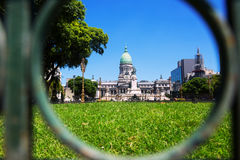 Paleis van het Argentijnse Nationale Congres Stock Afbeeldingen