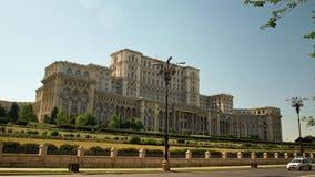 Paleis van het Parlement - Casa Poporului - Palatul Parlamentului Stock Afbeelding