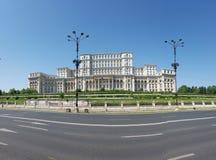 Paleis van het Parlement, Roemenië, hemel, oriëntatiepunt, de bouw, paleis stock foto's