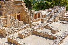 Paleis van Knossos Kreta, Griekenland Stock Afbeelding