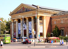 Paleis van Kunst in Boedapest stock afbeelding