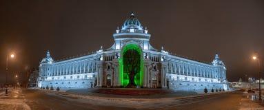 Paleis van Landbouwers in Kazan, Republiek Tatarstan Royalty-vrije Stock Afbeeldingen