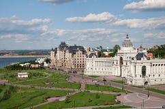 Paleis van landbouwers in Kazan, Rusland Royalty-vrije Stock Afbeelding