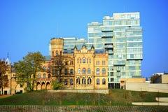 Paleis van Litouwse Architectenunie in Vilnius-stad in de herfsttijd Stock Foto's