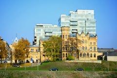 Paleis van Litouwse Architectenunie in Vilnius-stad in de herfsttijd Stock Afbeelding
