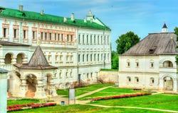 Paleis van prinsen en bischoppen van in Ryazan het Kremlin in Rusland stock afbeelding