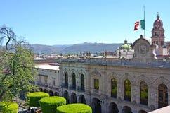 Paleis van Rechtvaardigheid Morelia, Mexico Stock Foto
