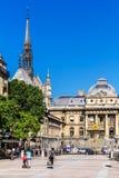 Paleis van Rechtvaardigheid Palais de Justice en de Heilige Kapel Heilige Stock Afbeeldingen