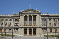 Paleis van Rechtvaardigheid, Santiago, Chili Stock Afbeelding