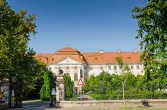 Paleis van Roman Catholic Diocese van Oradea Stock Fotografie