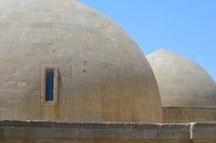Paleis van Shirvanshahs in de oude stad van Baku, hoofdstad van Azerbeidzjan royalty-vrije stock afbeeldingen