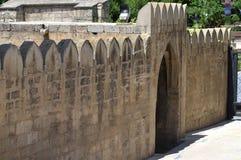 Paleis van Shirvanshahs in de oude stad van Baku, hoofdstad van Azerbeidzjan stock afbeelding