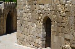 Paleis van Shirvanshahs in de oude stad van Baku, hoofdstad van Azerbeidzjan stock foto's