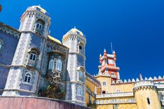 Paleis van Sintra in centraal Portugal royalty-vrije stock afbeeldingen