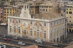 Paleis van St George in Genua, Italië royalty-vrije stock afbeelding