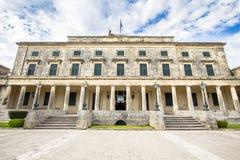 Paleis van St Michael en St George, Korfu, Griekenland Stock Foto's
