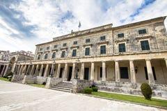 Paleis van St Michael en St George, Korfu, Griekenland Royalty-vrije Stock Fotografie