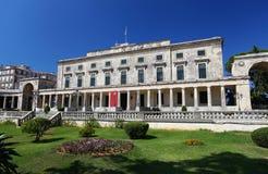 Paleis van St. Michael en St. George in Korfu Royalty-vrije Stock Foto