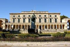 Paleis van St Michael en St George in Korfu Royalty-vrije Stock Afbeeldingen