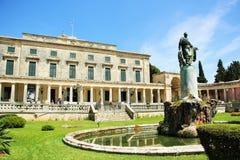 Paleis van St Michael en St George in Korfu Stock Afbeelding