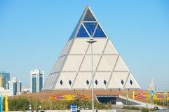 Paleis van Vrede en Verzoenings de bouw in Astana, Kazachstan Stock Afbeelding