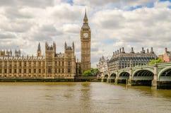 Paleis van Westminster, Huizen van het Parlement, Londen Stock Afbeelding