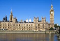 Paleis van Westminster in Londen stock afbeelding