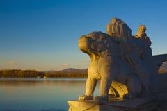 Paleis zeventien van de zomer de zonsopgang van de boogbrug Royalty-vrije Stock Afbeelding