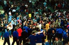 Paleisbrawl Pacers verlaat het Hof Stock Foto