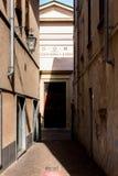 Paleizen en straten van de stad van Arona op Meer Maggiore Stock Fotografie