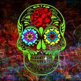 Palella dello zucchero con le rose ed i fiori Fotografia Stock Libera da Diritti