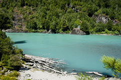 Palena River - Corcovado National Park - Chile stock images