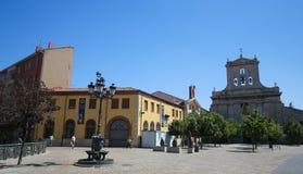 Palencia, Castile and Leon, Spain. PALENCIA, SPAIN - JULY 10, 2016: Convento de San Pablo (14th century) in Palencia, a city in Castile and Leon, northwest Spain royalty free stock image