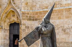 Religious statue in Palencia, Spain royalty free stock photography