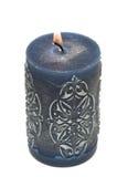 palenie błękitny świeczka Zdjęcie Stock