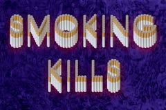 palenie zabija Zdjęcie Stock