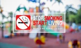 Palenie zabronione i Światowy Żadny Tabaczny dzień Obrazy Royalty Free