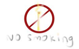 Palenie zabronione ikona Zdjęcie Royalty Free