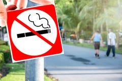 Palenie zabronione przy jawnym parkiem Obrazy Stock