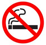 Palenie zabronione symbol zdjęcia stock