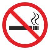 Palenie zabronione terenu znak Obrazy Royalty Free