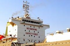 Palenie zabronione zbawcza znak deska na Kochi statku najpierw Obrazy Stock